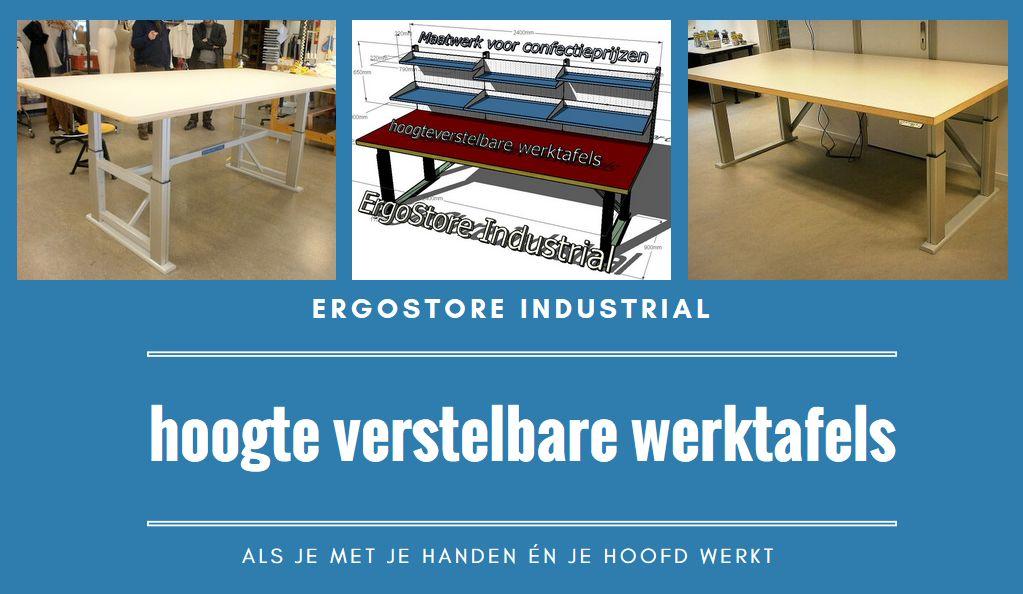 ErgoStore Industrial hoogteverstelbare werktafels